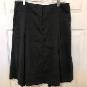 Eileen Fisher Pleated Linen Skirt